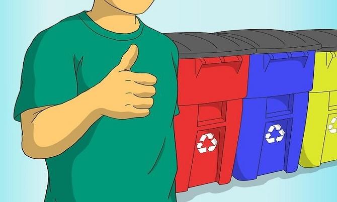 Ilustrasi buang sampah (Wikihow)